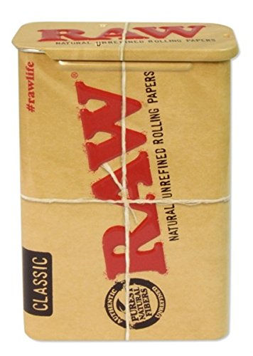 Abbildung: Zigarettendose 'RAW' Metalldose mit Schiebedeckel zur sicheren Aufbewahrung von Zigaretten