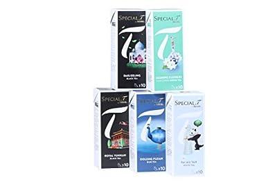 Special.T - Trésors de la Chine Mix - Thé Noir Vert Blanc Bleu (5 variétés de 10 capsules)