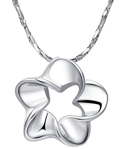 SaySure - 14K Gold Plated Stellux Crystals Platinum five petals Platinum Petal