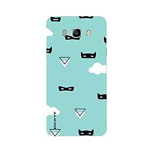 RICKYY _J7_1093 Printed Matte designer cartoon on blue Background case for Samsung J7