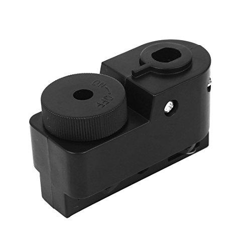 DealMux 2-Wire Guide Rail Connector Track Box Shell Lighting Fittings Black - Guide Rail Connector