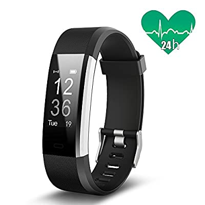 JoyGeek Fitness Tracker, Smart Bracelet Heart Rate Monitor, Bluetooth Smart Watch with Sleep Monitor Pedometer GPS Call/SMS Reminder for iPhone X/8/8plus/7 Samsung S8/note 8 from JoyGeek
