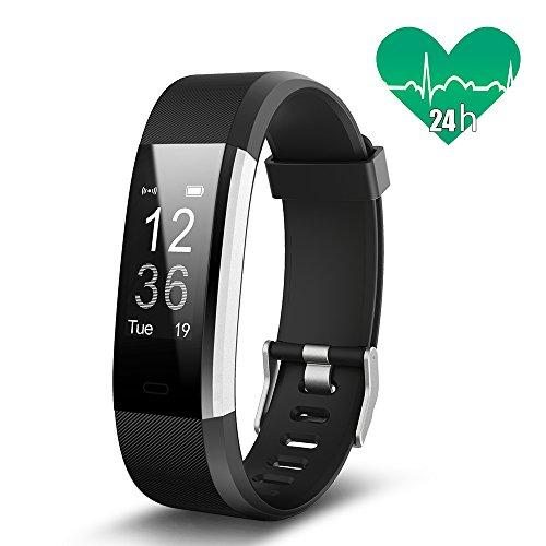 JoyGeek Fitness Tracker, Smartarmband Herzfrequenzmessgerät, Bluetooth Smartwatch mit Schlaf-Pedometer, GPS Call/SMS Erinnerung für iPhone X/8/8plus/7 Samsung S8/note 8 Huawei Mate 9/P9/P10