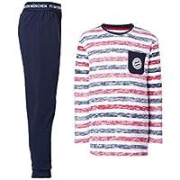 FC Bayern München Schlafanzug Kids, Pyjama gestreift für Kinder