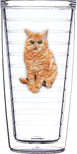 Gestromt Katze Emblem auf Klar Traveler 16Oz Tumbler Cup -