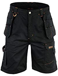 333884eb4a Mens Cargo Redhawk Pro Work Shorts Black Multi Pockets Like Dickies WD802