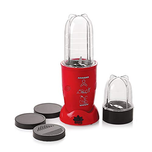 BMS Lifestyle Nutri 400-Watt Juicer (Red)