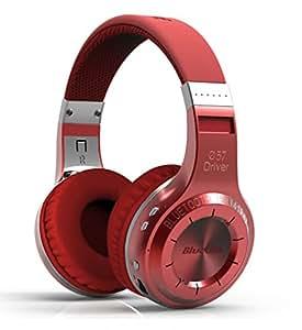 Bluedio H-Turbine Bluetooth casque stéréo casque sans fil Batterie au microphone casque bt4.1Basse puissante Profitez de votre musique casque audio–Emballage Global Libération (Rouge)