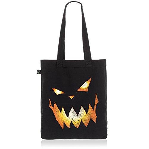 Burton Halloween Kostüm (style3 Kürbiskopf Halloween Biobaumwolle Beutel Jutebeutel Tasche Tote Bag,)