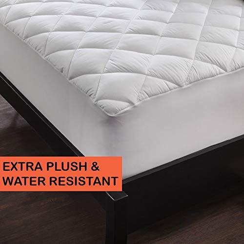 Gavotte Home Ultra Plüsch Matratze Pad-fleckabweisendes, antimikrobiell und wasserabweisend, 100% Baumwolle Matratze Bezug von shopbedding, baumwolle, weiß, Twin (100 Baumwolle Matratze Pad)