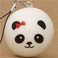 Colgante Squishy con un oso panda con lacito rojo para móvil de Kawaii