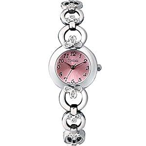 Time100 - Montre quartz femme et fille simple mode Gourmette Bracelet placage en alliage Style de bijoux Mode Rose pâle - W50053L.03A
