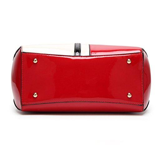 Borse A Tracolla In Pelle Pu Moda Donna Top-handle Borsa A Mano Tote Bag Purse Crossbody Bag Rosered