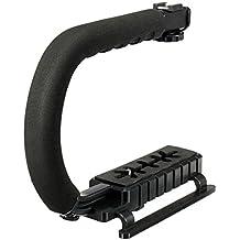 Generic Universal Stabilizer C-Shape Bracket Video Handheld Grip For DSLR DV Camera (Black)