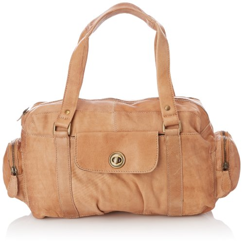 Pieces Totally Royal Leather Small Bag13, Sac porté épaule - Beige (Nature)