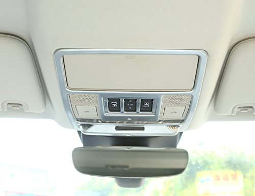 Carbon ABS Innen Chrom matt Zubehör Auto Dach Leselampe Dekoration Rahmen Cover Trim Aufkleber für Discovery 52017