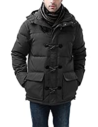 BGSD Men's Connor Hooded Water Resistant Toggle Down Parka Coat