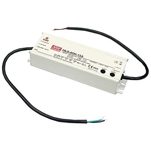LED Netzteil 75W 15V 5A ; MeanWell HLG-80H-15A ; Schaltnetzteil (15v 5a Netzteil)