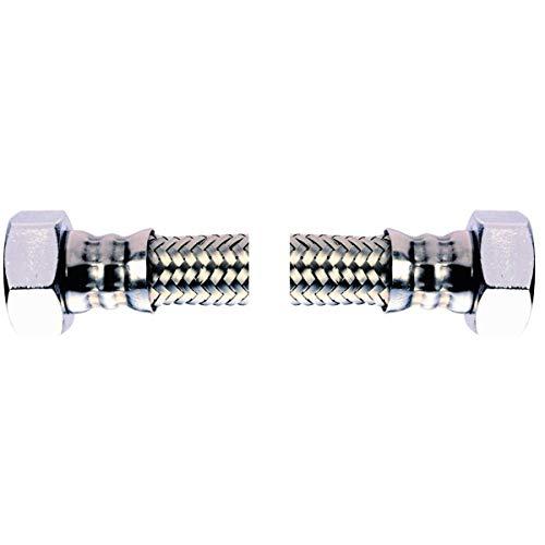 Bene Flexible sanitaire en Acier inoxydable 304 3//8 Femelle x3//8 Femelle pour 2 pi/èces pour leau potable avec mise en DVGW et KTW Longueur 200 mm DN8