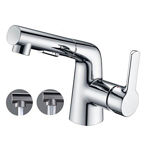 Salle de bain Lavabo Robinet robinet mitigeur Crea avec Pull Out Pulvérisateur à poignée simpl