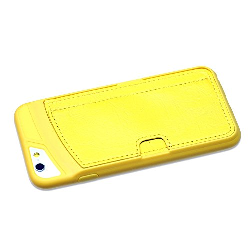 OBiDi - New Design Colorful Wallet Card Holder phone case / Housse pour Apple iPhone 6 / 6S (4.7 inch)Smartphone - Jaune Jaune