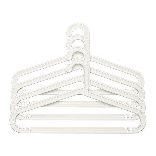 Ikea BAGIS Kleiderbügel in weiß; für innen und außen; 60 Stück