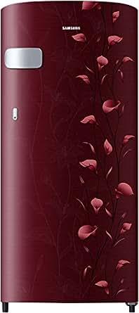 Samsung 192 L 2 Star Direct Cool Single Door Refrigerator(RR19N1Y12RZ/HL, Tender Lily Red)