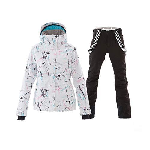 Cvthfyky Damen Skijacke Snowboard wasserdicht Winddicht Schneeanzug für Regen Schnee Outdoor Wandern (Color : Black, Size : M)