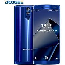 Smartphone Baratos, DOOGEE BL12000 4G Móviles y Smartphones Libres, 6.0 Pulgadas FHD+, Dual Sim Android 7.0 Telefonos, Octa-Core MT6750T 1.5GHz, 12000mAh 4GB+32GB (Ampliable 256GB), 16.0MP+13.0MP Cámaras Traseras Duales, Huella Dactilar- Azul