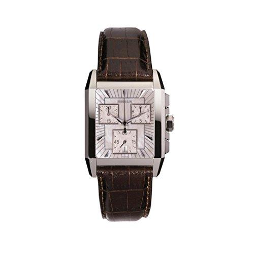Michel Herbelin Women's Brown Leather Band Steel Case Quartz Watch 34472/19MA