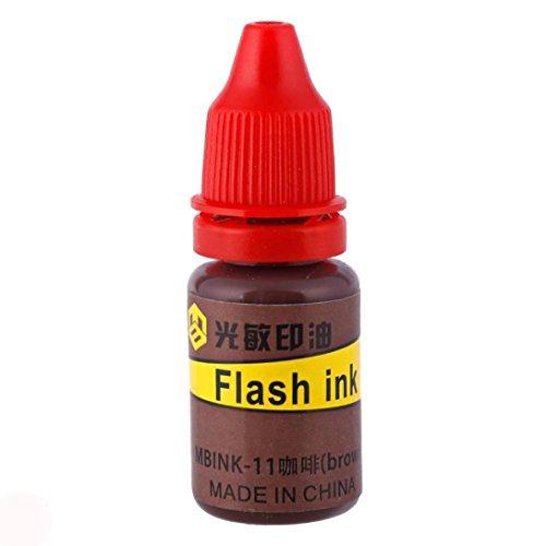 Taottao 10ml pratique recharge d'encre 10Choix de couleur pour flash auto-encreur Tampon en caoutchouc Cadeau caractéristiques: 6.5*2cm K