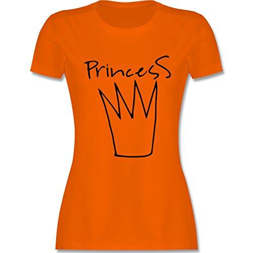 Statement Shirts - Princess Krone - tailliertes Premium T-Shirt mit Rundhalsausschnitt für Damen Orange