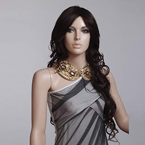 n Haar Wigs Blond Cosplay Party Kostüm Perücken Brasilianische Voll Bob Wave Natürliche,Black,28inches ()