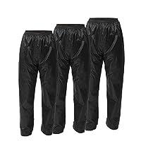 Xiong Xu Reusable Black Waterproof Raincoat Rain Pants Trousers Wear-resistant Stretch Pants Fishing Hiking Motorcycle Wear-resistant Trousers Lightweight And Portable