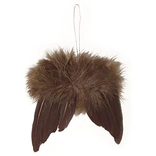 - Rayher 8522705 - angelo ali in piume, 5 cm, SB-confezione 2 pz, d.brown