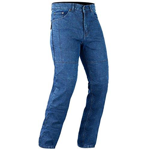 Bikers Gear Kevlar Stretch Denim Slim Fit Motorrad Jeans CE Armour, blau, Größe S/S