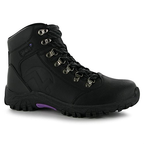 b06d4bf5aa9 Gelert Womens Leather Walking Boots Outdoor Hiking Ankle High Laced Shoes  Ladies