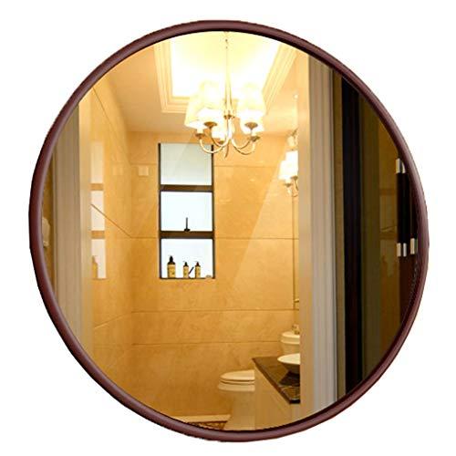 Großer Moderner Kreis Wandspiegel mit Birkenrahmen 50CM (20 Zoll)   Make-up/Rasur/Dekorativ/Kosmetikspiegel für Bad und Flur (20 Zoll Bad-spiegel)