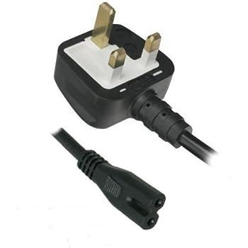 samsung tv cable. new 2 pin fig 8 uk plug cable lead power cord for panasonic / samsung tv