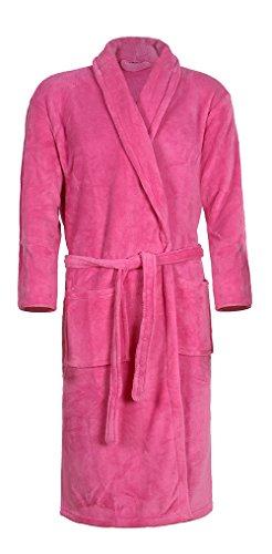 Mack - Albornoz Unisex para Hombre y Mujer 100% poliéster Pink L