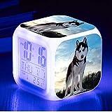 Horloge de Chien Mignon LED 7 Couleur Flash Digital Alarm Clock réveil réveil Lumineux Couleur Flash Watch Jouets