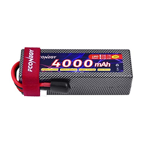 FCONEGY 4S 14.8V 4000mAh 40C Lipo akku mit Deans-T Stecker Modellbau Akku für RC Auto Boot Truck Batterie (Lipo-akkus, Rc 4s)