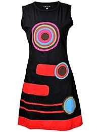 Damen ärmelloses Kleid mit bunten Kreis-