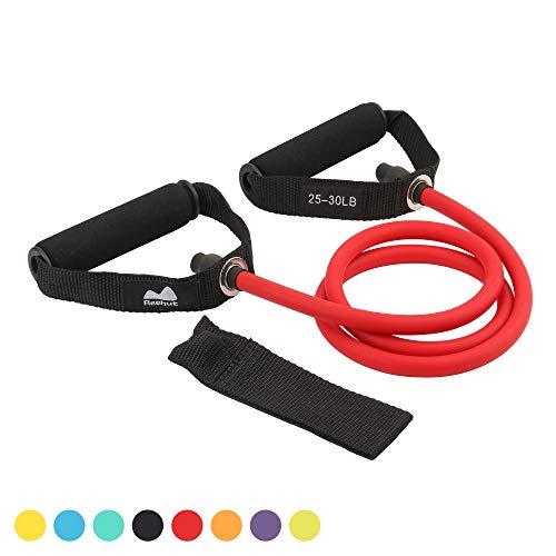 REEHUT Bandas Elásticas de Entrenamiento, Bandas de Resistencia para Fitness Cable de Ejercicio de Entrenamiento para Tonificación Muscular, Equipo de Ejercicio de Estiramientos para Yoga - Rojo