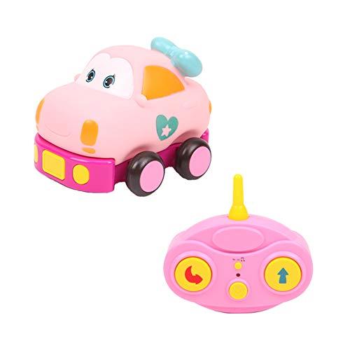 TrifyCore Elektro-Auto-Spielzeug Mini-Cartoon-Rennwagen-Spielzeug elektrische Fernsteuerung Spielzeug für Baby-Kleinkind-Rosa-A4 Typen 1Set (Kleinkind Rosa Auto)