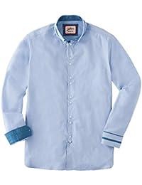 Joe Browns Mens Long Sleeve Shirt Plain With Collar Detail