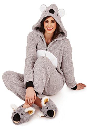 Loungeable Damen Onesie 3D Ohren Schlafanzug – Kiki Koala - 5