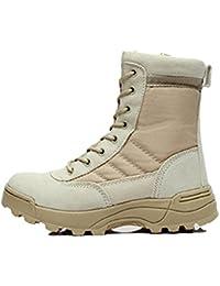 Zapatos De Senderismo Hombre Botas De Cuero Impermeables Botas Tácticas Al  Aire Libre Botas Altas De e855a7f0a123b