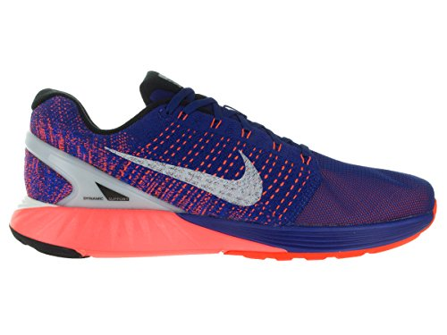 Nike Lunarglide 7 Scarpe da ginnastica, Uomo Azul / Plateado / Rojo (Dp Ryl Bl / Rflct Slvr-Ttl Crmsn)