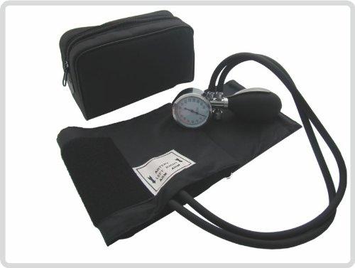 Aneroid Blutdruckmessgerät mit Klettmanschette und Etui
